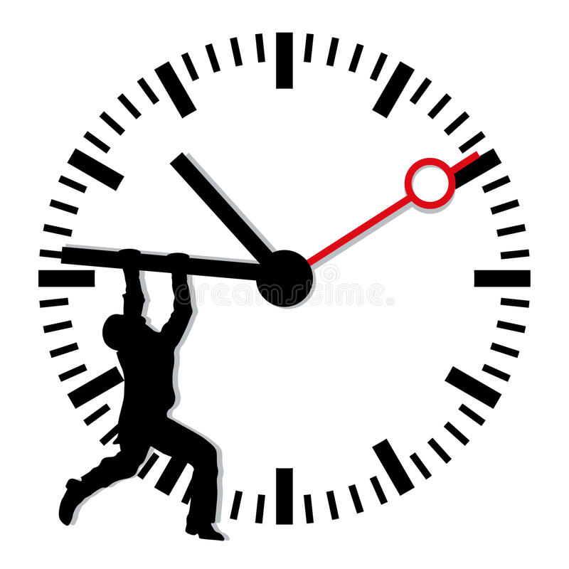 To stop the time stock illustration