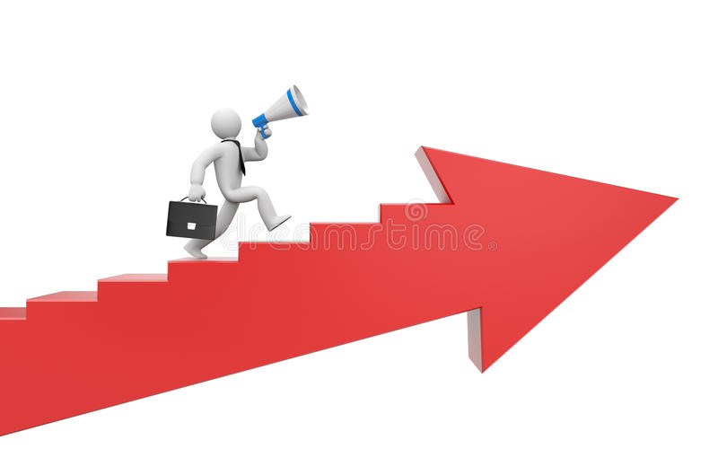 Download To success stock illustration. Image of competition, arrow - 21086056