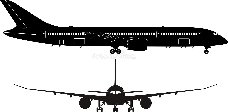 to sylwetka pasażerów royalty ilustracja