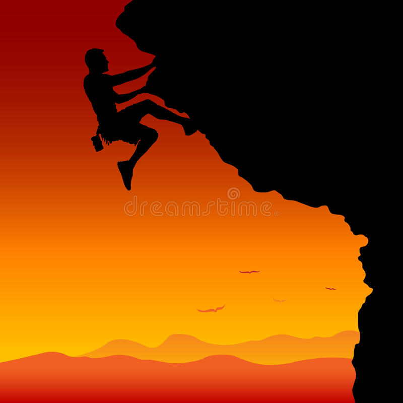 Download To the top stock vector. Image of clip, rappelling, athletic - 20118860