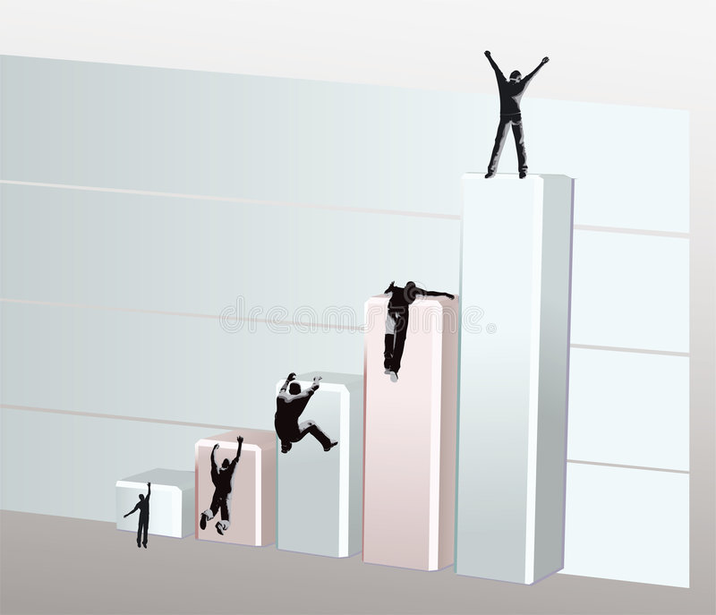 To the top stock illustration
