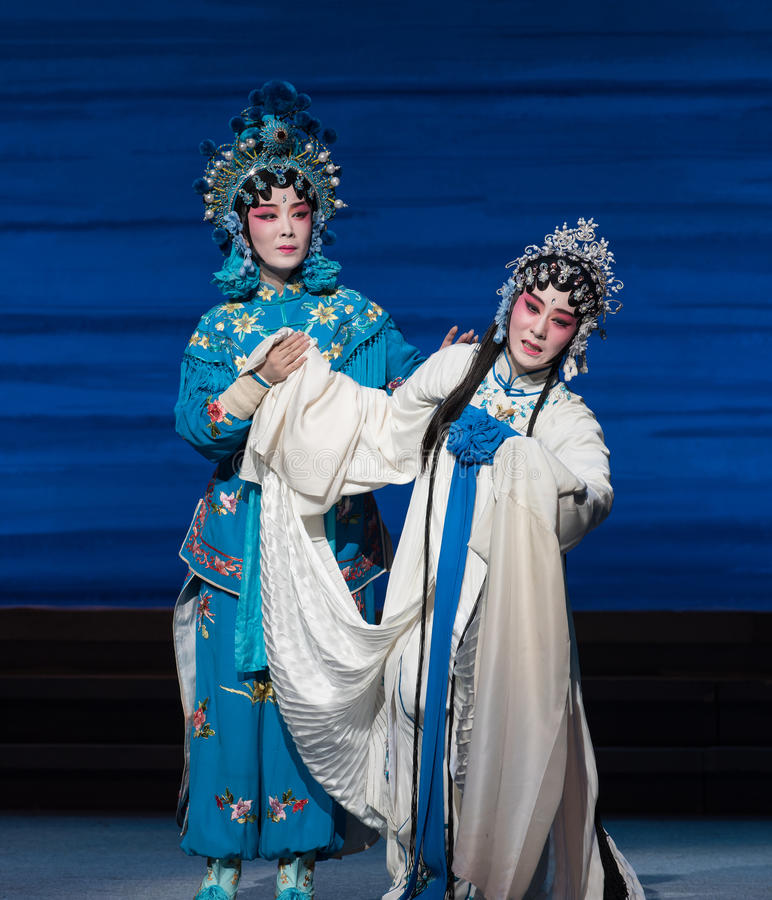 "To weep disconsolately-The seventh act Disintegration of families-Kunqu Opera""Madame White Snake"". Legend of the White Snake is one of the most stock image"