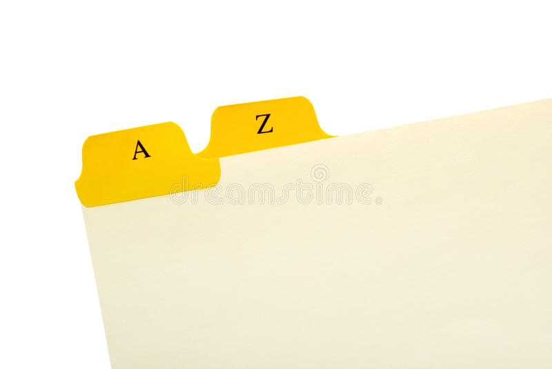 Download A to Z stock image. Image of card, paper, stationery - 25835369