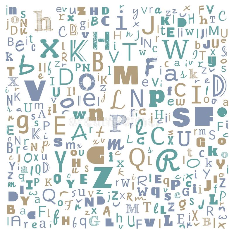 A to Z word cloud, multicolor Alphabet word cloud, t-shirt and shirt print design, Bunche of Alphabet random place art, background. For website or web-page royalty free illustration
