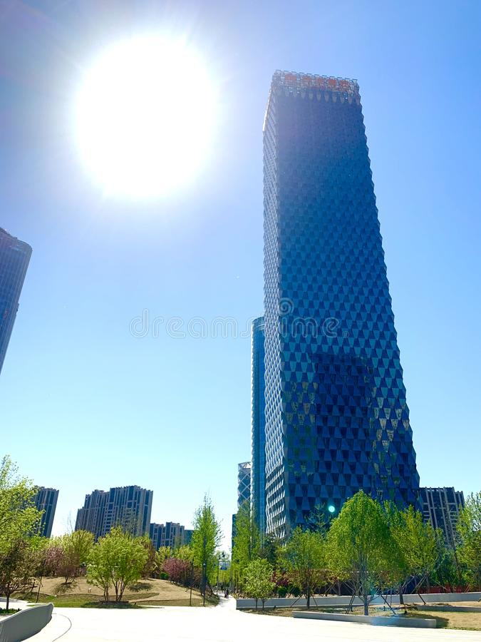 To zadawala wangjing, Beijing, Chiny, bardzo wysoki budynek, fotografia royalty free