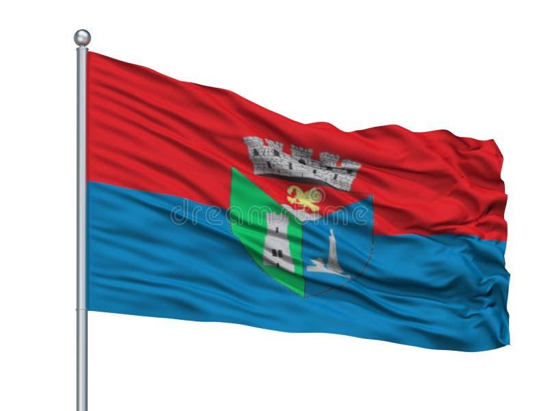 Toa Alta City Flag On Flagpole Puerto Rico som isoleras på vit bakgrund stock illustrationer