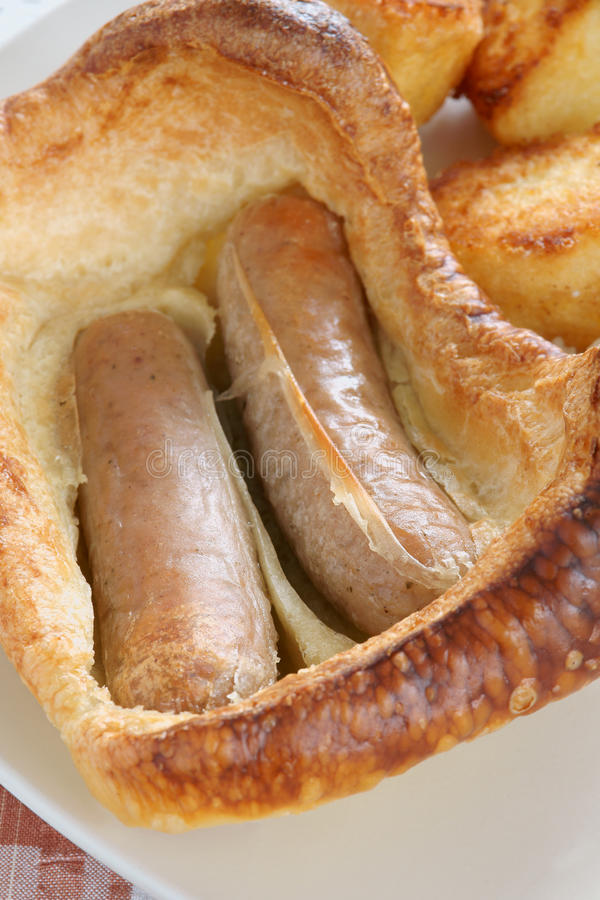 Toad in the Hole royalty free stock photo