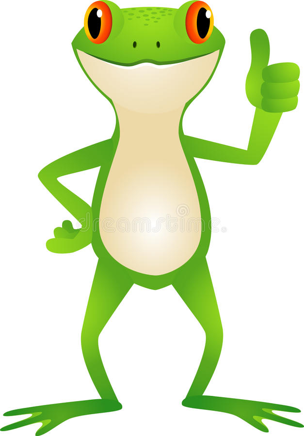 Download Toad with thumb up stock vector. Illustration of thumbs - 20783435