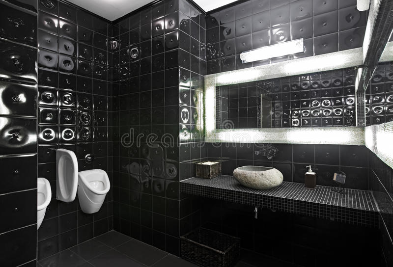 toaleta czarny biel zdjęcia royalty free
