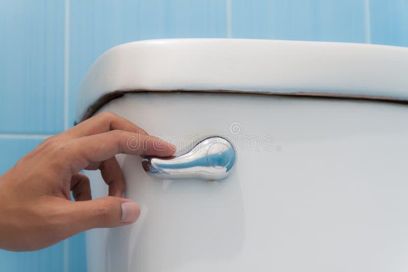 Toaleta z sekwensem Prasa i sekwens obrazy stock
