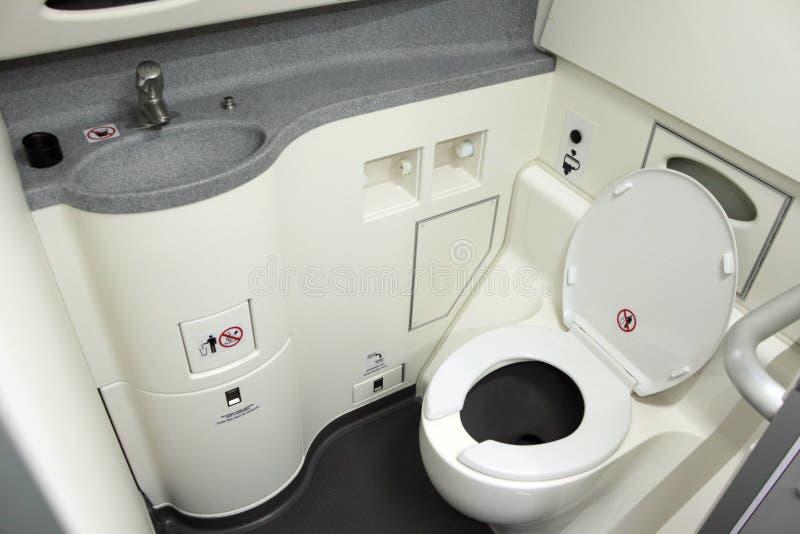 Toalete a bordo imagens de stock