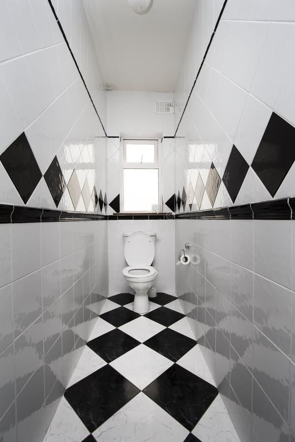 Toalete Checkered foto de stock royalty free