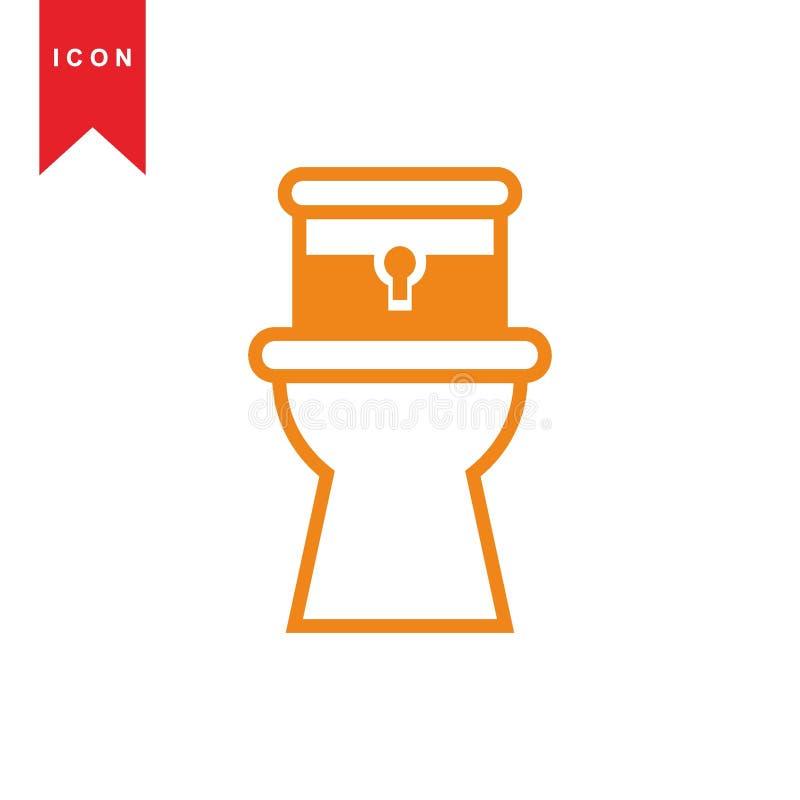 Toalete ilustração royalty free