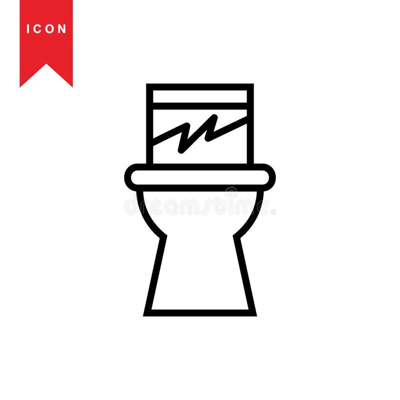 Toalete ilustração stock