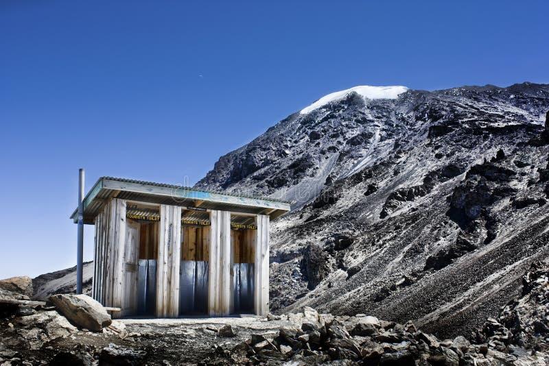 Toalete de Kilimanjaro fotografia de stock