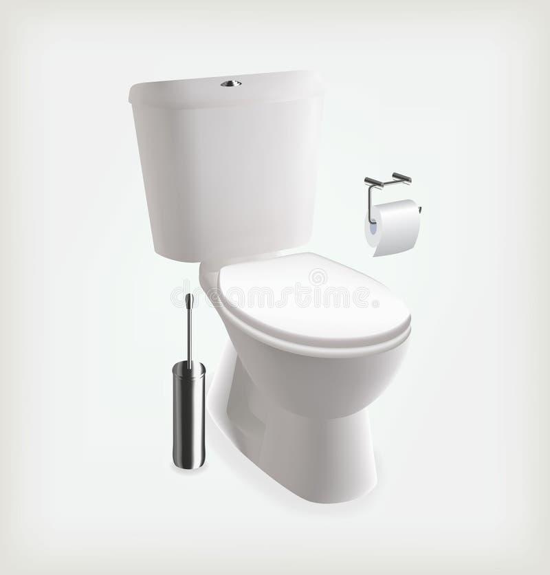 Toalete do vetor ilustração do vetor