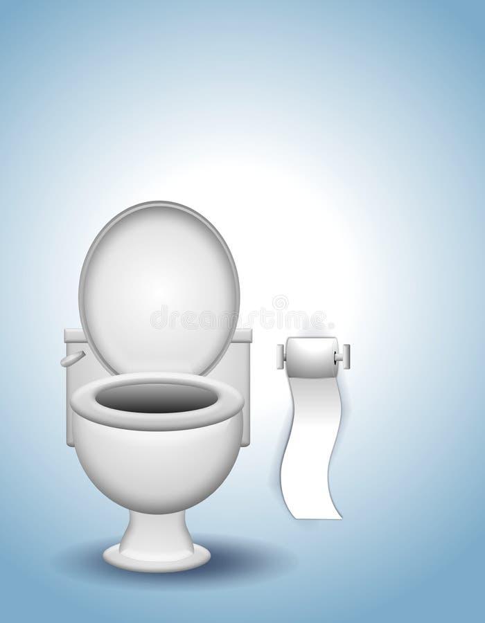 Toalete e papel higiénico ilustração royalty free