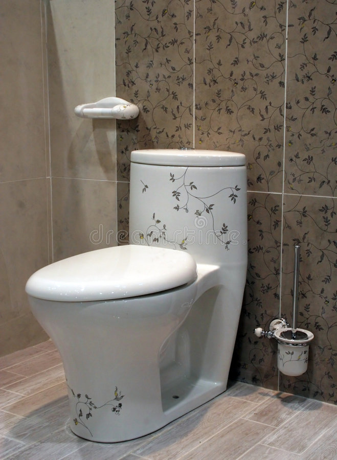 Toalete floral - interiores home fotografia de stock royalty free