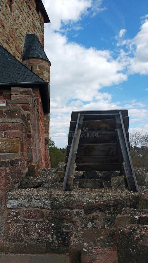 Toalete histórico no castelo de Nideggen, Alemanha fotos de stock royalty free