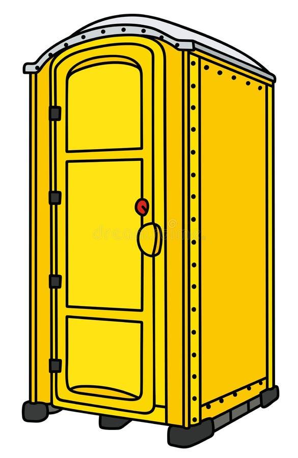 Toalete móvel amarelo ilustração do vetor