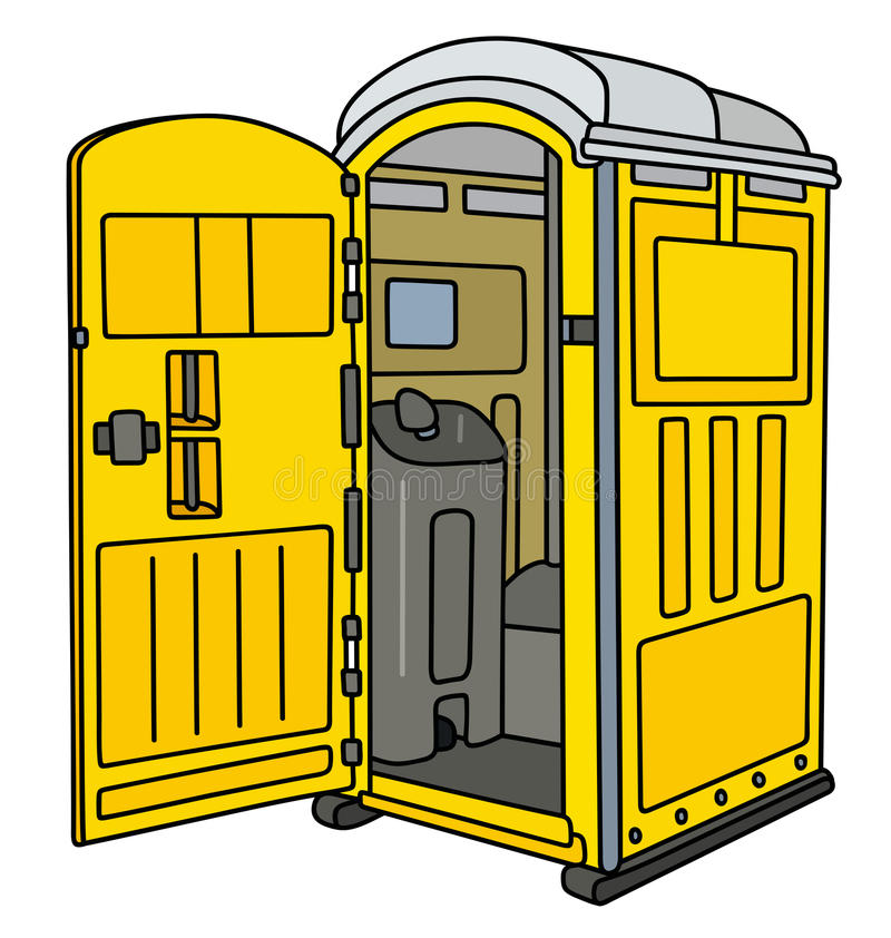 Toalete móvel amarelo ilustração stock