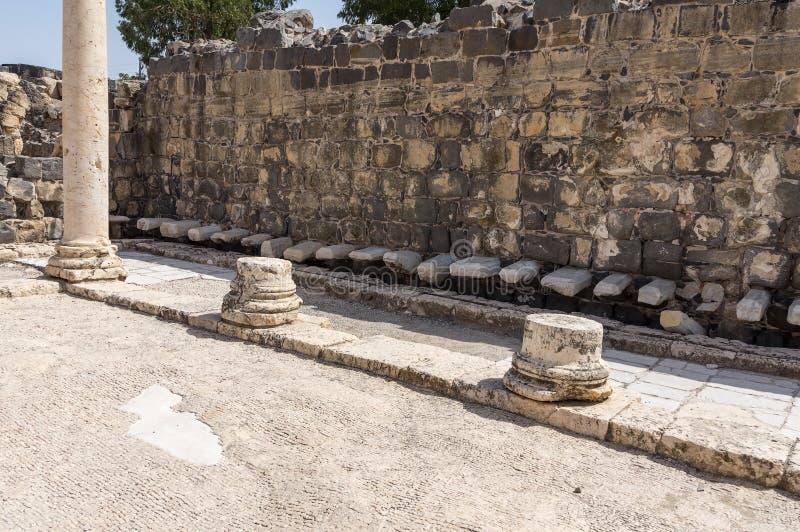 Toalete público romano antigo fotografia de stock