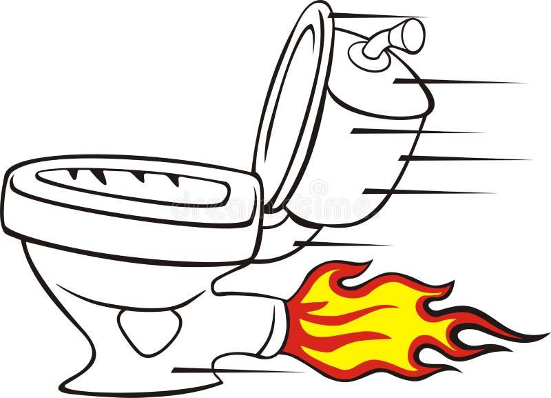 Toalete rápido ilustração do vetor