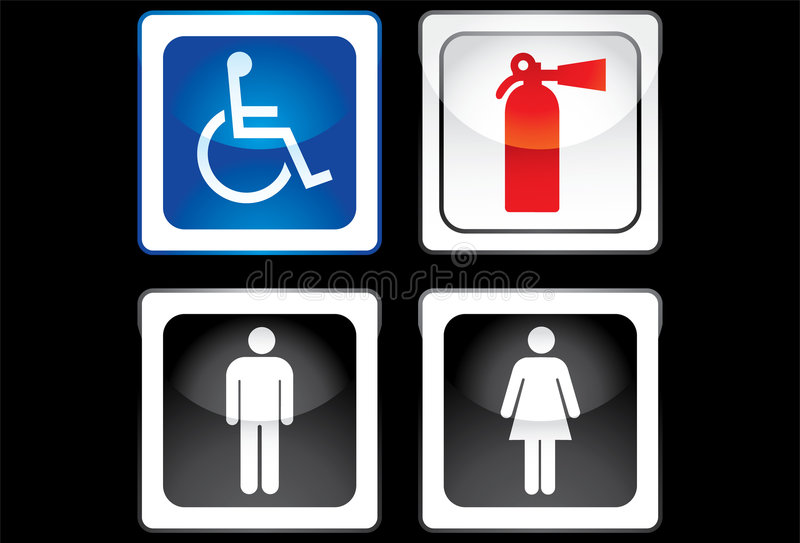 Toalete-sinal ilustração royalty free