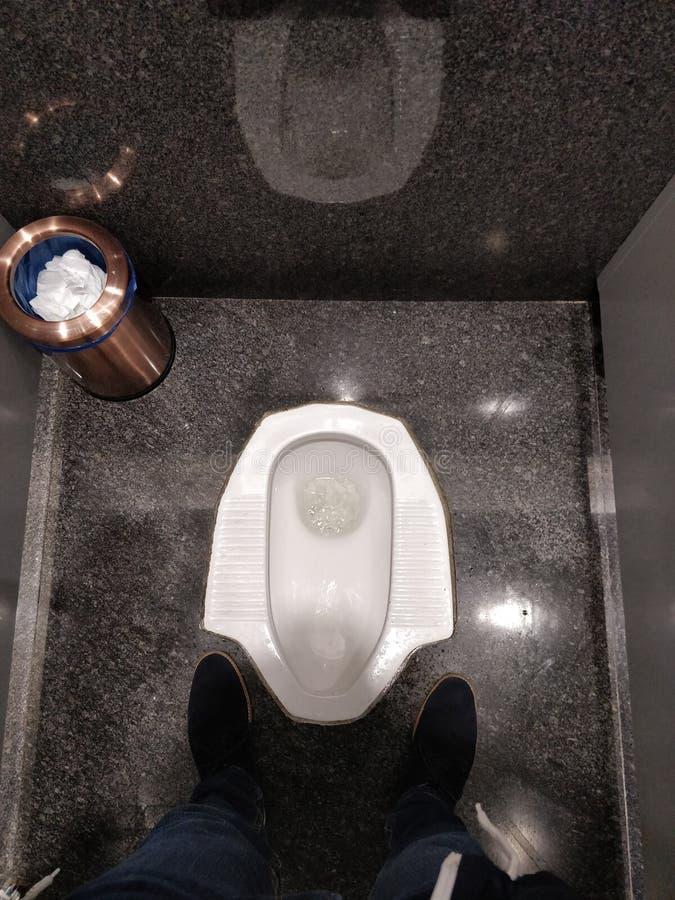 Toalete turco do estilo fotografia de stock