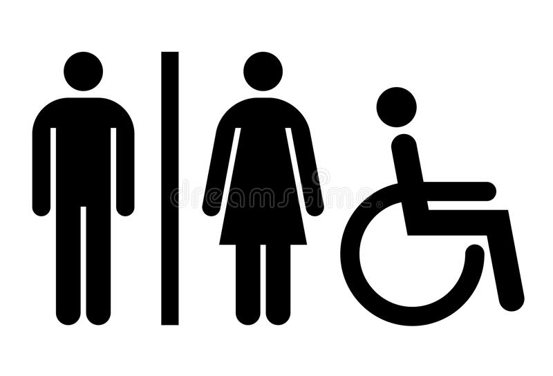 Toalete, wc, sinal do toalete ilustração royalty free