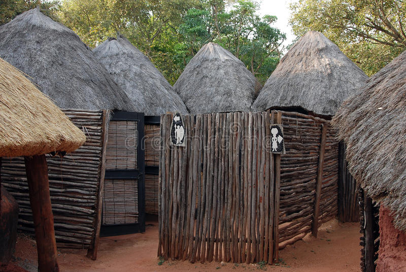 Toaletes africanos imagens de stock