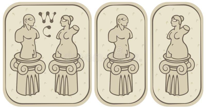 Toaletes Masculinos E Fêmeas Imagens de Stock Royalty Free