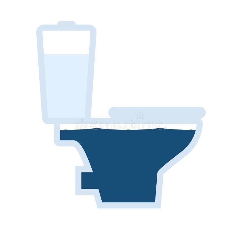 Toaletowa przelewa się ikona royalty ilustracja