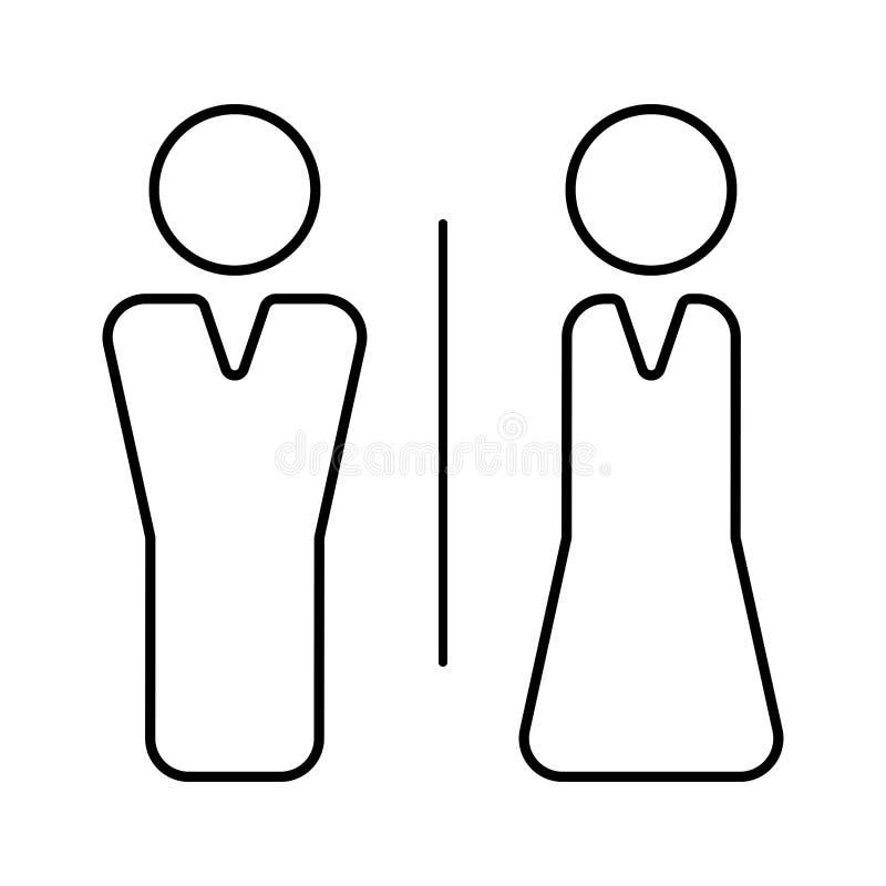 Toaletowa wektorowa ikona royalty ilustracja