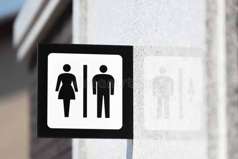 Toaletowi znaki zdjęcie stock