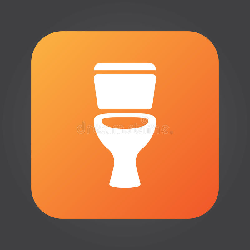 Toaletowy ikona wektor, stałego koloru loga ilustracja, piktogram odizolowywający na czerni ilustracja wektor