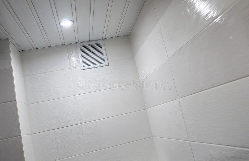 Toaletowy projekt z obmurowaną toaletą Obmurowana toaleta zrobi gdy instalacja wszystkie elementy oprócz toalety, chuje obraz royalty free