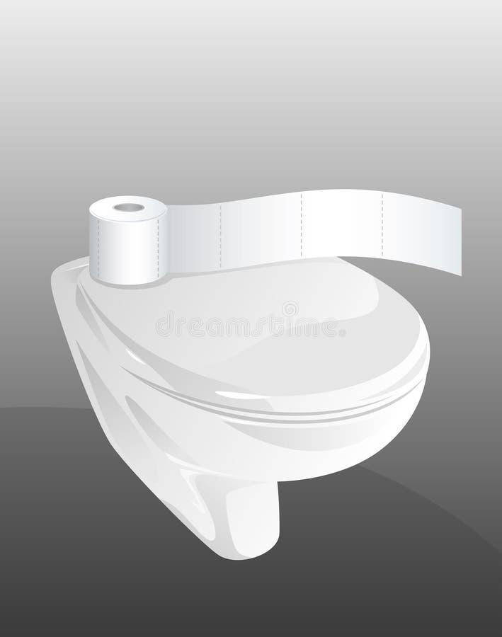 toalett vektor illustrationer