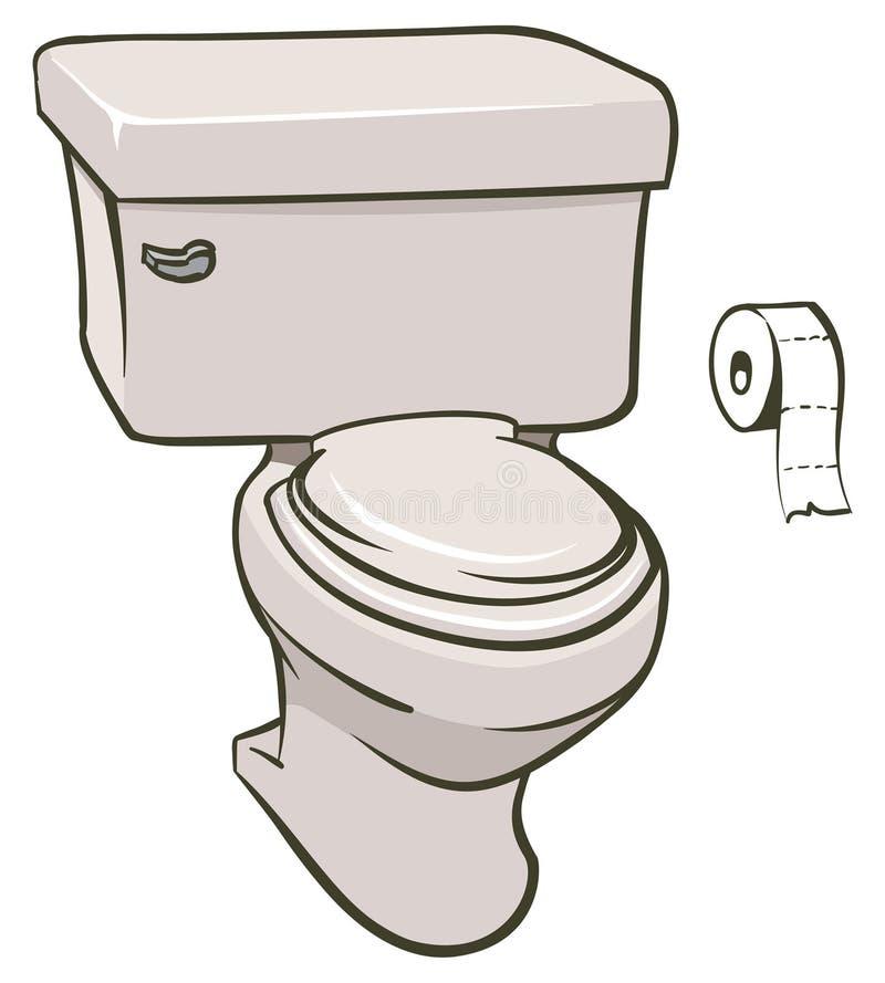 toalett stock illustrationer