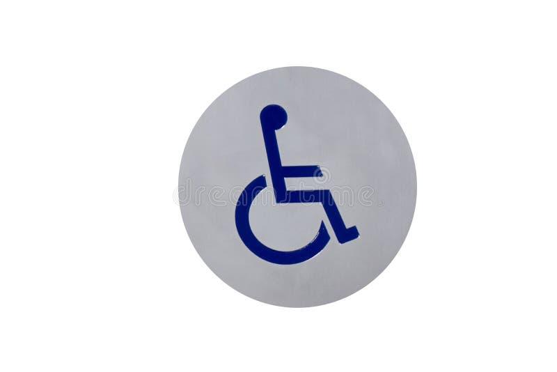 Toalett för wc för Sign†‹disable royaltyfri bild