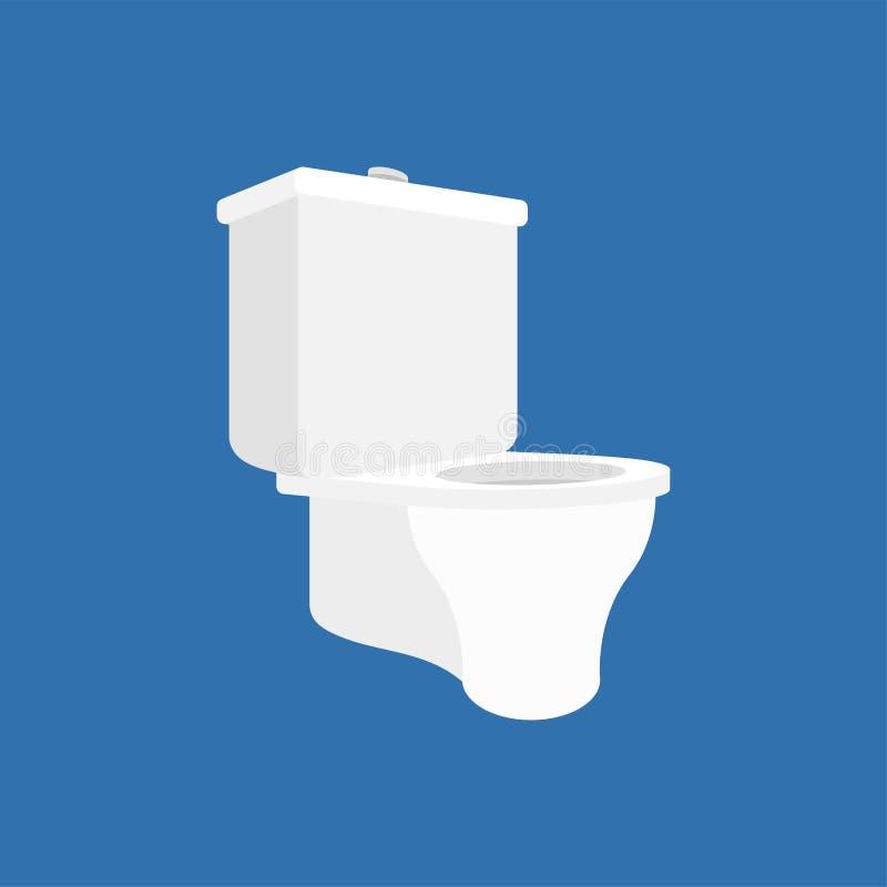 toalett f?r 2 bunke vektor f royaltyfri illustrationer