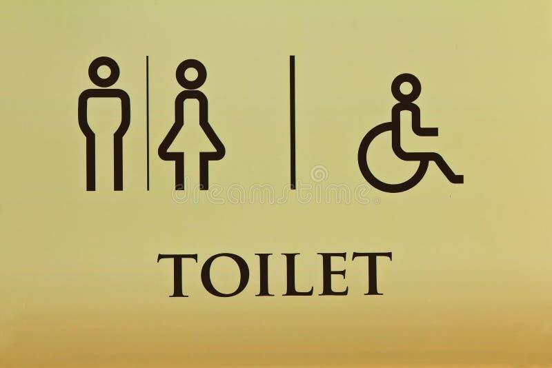 Toalett och symbol royaltyfria bilder