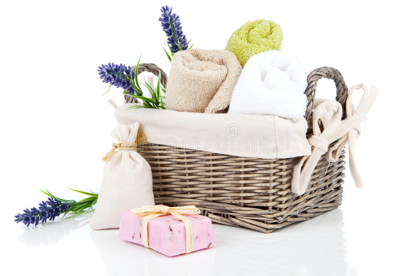 Toalettartiklar för avkoppling royaltyfria foton