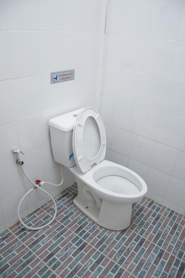 Toalettbunke för slät toalett royaltyfri bild