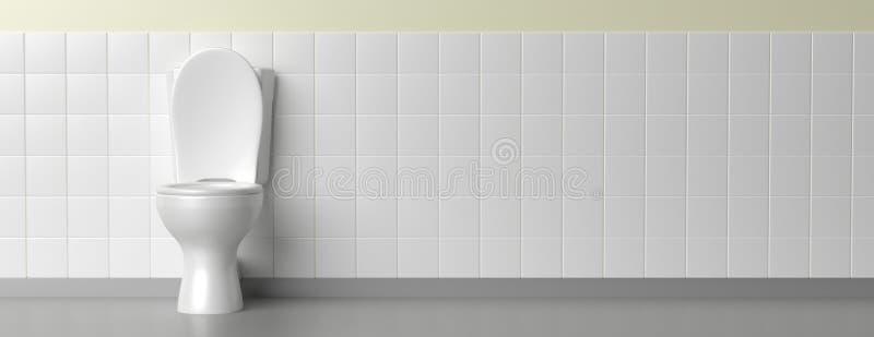 Toalettbunke på vit bakgrund, baner illustration 3d vektor illustrationer