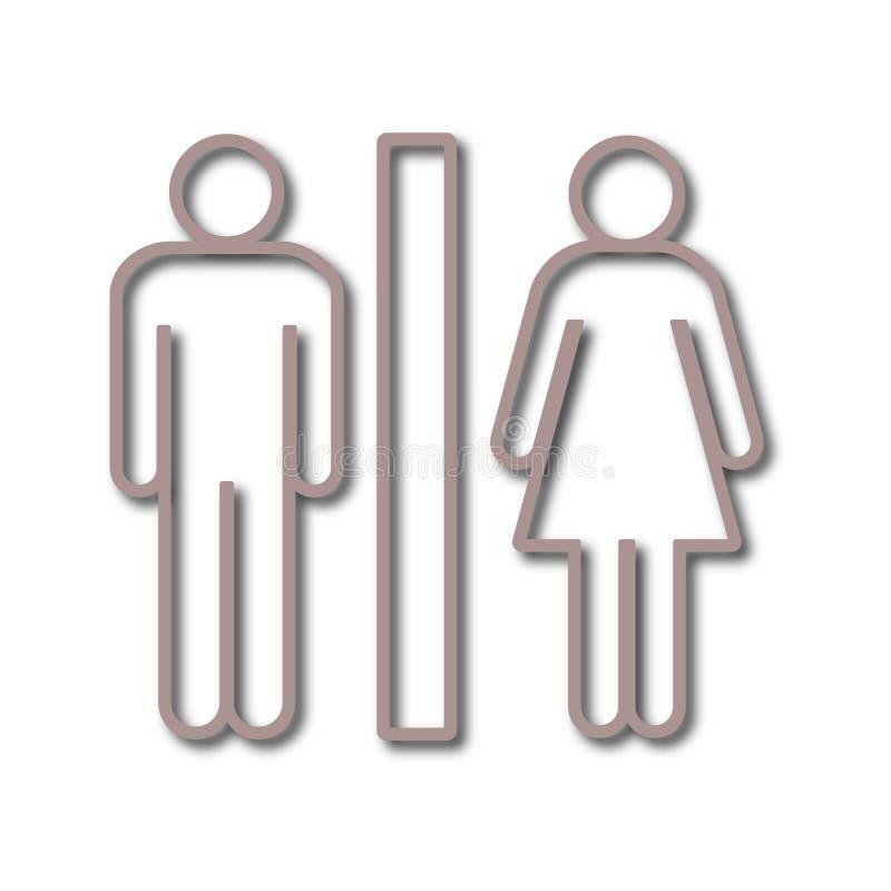 Toalettsymbol vektor illustrationer