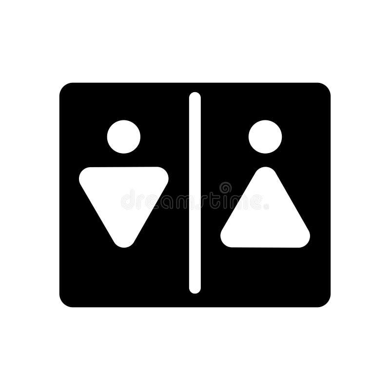 Toalettsymbol  royaltyfri illustrationer