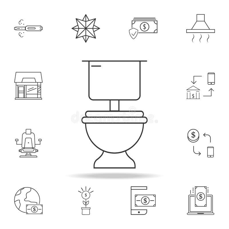 Toalettsymbol Detaljerad uppsättning av rengöringsduksymboler och tecken Högvärdig grafisk design En av samlingssymbolerna för we vektor illustrationer