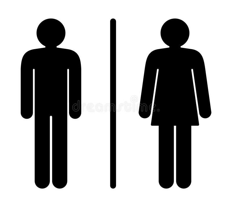 toaletttecken royaltyfri illustrationer