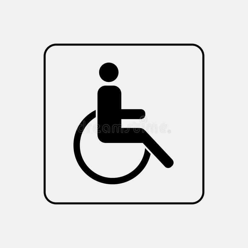 ToalettWC-dörr/väggplatta royaltyfri illustrationer